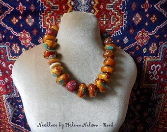 Tashi necklace. Tibetan style contemporary design, handmade by designer