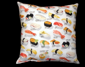 Sushi Throw Pillow Decorative Pillow Cushion Home Decor Bedding