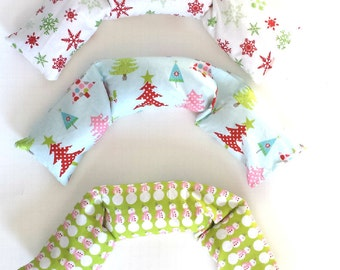 Aromatherapy pillows, Relaxation Therapy, holiday Christmas fabric, Eye and Neck  pillow set, hot/cold therapy microwaveable  Rice