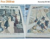 ON SALE 20% Vintage Antique dated French Issue news paper supplement Le petit journal May 1894