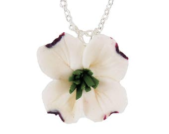 White Dogwood Necklace - Dogwood Jewelry Collection