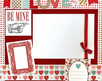 Sweet Love - Premade Scrapbook Page