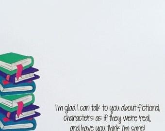 I Love Books Love to Read Teacher English Teacher Personalized Notepad