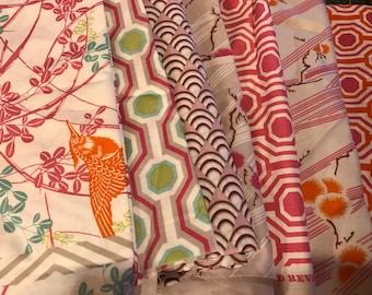 Tanya Whelan Dolce 7 Different fabric lot OOP HTF Scrap/Yardage Destash 2lbs 12.6oz. of fabric Quilt Making