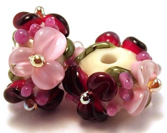 Cashmere Pink Gilded Floral Spacers