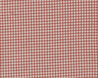 Quilt Fabric | Through the Seasons Fabric | Eleanor Burns | Benartex | One Yard Cut | Red Cream Check Gingham | Quilt Stash Builder