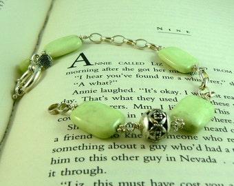 Lemon Chrysophrase Sterling Silver Bracelet