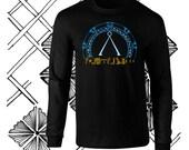Long Sleeve Colorful Stargate w Egyptian Heiroglyphs Fan Art T-Shirt