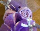 Purple and Gray Baby Shower Corsage