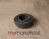 Felted Nesting Bowls/All Natural/Set of Three/Chocolate Brown/Ready to Ship