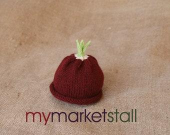 Radish Hat - 0-3 Months - Adult