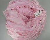 RESERVE FOR BRENDA Silk Chiffon Sari Ribbon, Pink chiffon sari ribbon, pink sari ribbon, Tassel supply, knitting supply
