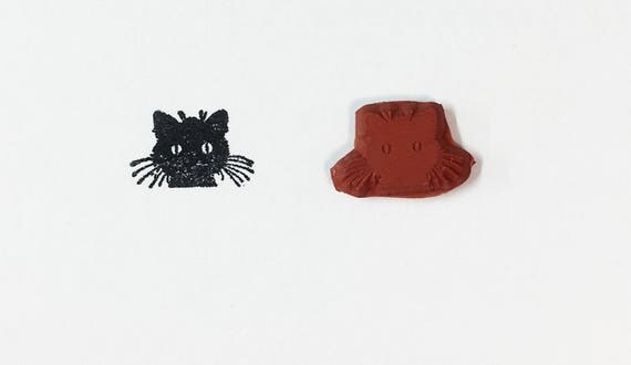 Little Whiskers Kitty Cat Graphic Image - Altered Attic Rubber Stamp Cartoon Clipart Pet Animal Greeting Art Craft Scrapbook Paper Card ATC