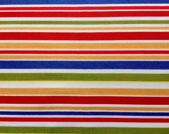 Cotton Multi-Colored Striped Fabric by the Yard - Cha Cha Stripe by Michael Miller