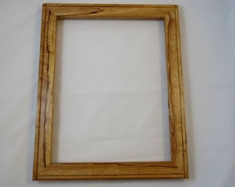 11x14 Spalted Light Curly Beech Picture Frame B5