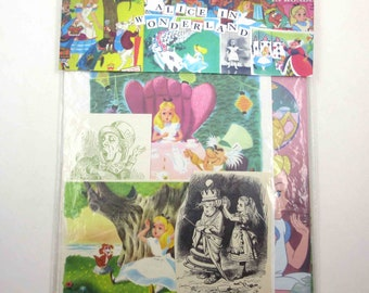 Alice In Wonderland Vintage Ephemera Pack for Altered Art
