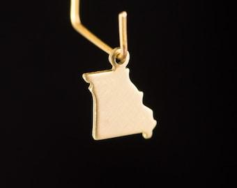 Raw Brass Tiny Missouri Blank State Charm Drops (6) chr228JJ