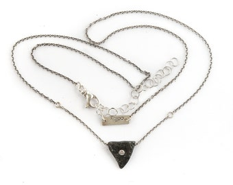 Heart of a Goddess Necklace | Silver and Diamond Necklace