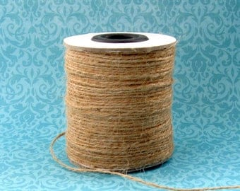 1mm Hemp Twine - 100 Meter Spool - 2 Ply Soft Pliable Natural Hemp Cord 20 Pound Test Strength (CCS0015)