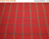 Black Friday Red And Green Holiday Large Plaid Homespun Fabric 1 Piece 58  x 58