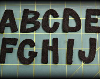 """Die cut felt 1.5"""" Alphabet Stick font craft felt  Your color choice"""