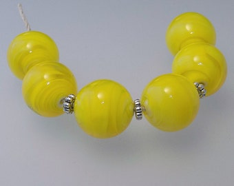 Beautiful Bright Yellow Spring  Bead Set SRA SRAJD