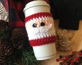 Santa Crochet Coffee Cozy