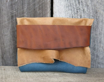 Teal Earth Light Traveler Eco Leather Clutch