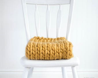 Extra Thick Baby Blanket Photography Prop, Gold, Basket Stuffer, READY TO SHIP Newborn Photo Prop