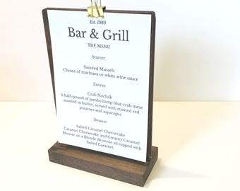 Menu Holder Stand + Tabletop Menu Stand + Tabletop Display Stand (Set of 10)