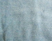 Vintage Wool Blend Fabric, Heather Blue Green