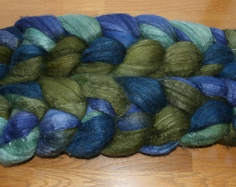Polwarth Tussah Silk Spinning Fiber - 'Cynical Wit'
