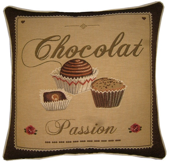 Confectionary Chocolat Passion Tapestry Cushion Cover Sham