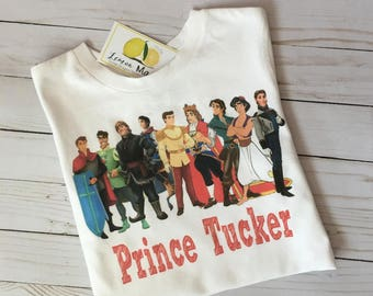 Disney Prince boy t shirt with name