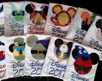 5+ Custom Disney Vacation Unisex ADULT or KIDS unisex Shirts with Character Name and Year (4 weeks)