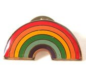 Vintage 1980 Rainbow Clutch Pin