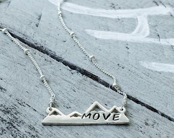 MOVE - Sterling Silver Mountain Pendant Necklace