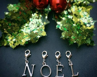 A Set of Christmas Letter Stitch Markers for Knitters and Crocheters