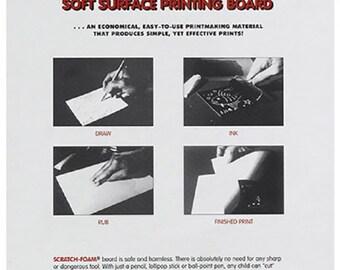 Scratch Art Foam Board 9 inches x 12 inches - 12 sheets 8185 fnt