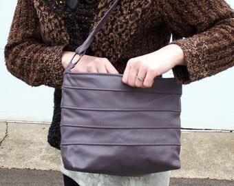 Spring Violet Leather Shoulder Handbag Purse in Lavender