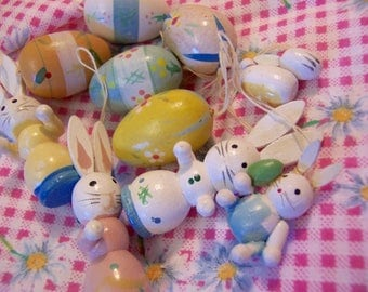 pastel assortment of easter decorations