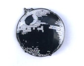 Limited edtion Disco Deathstar rainbow Glitter enamel hat pin, only 50 made