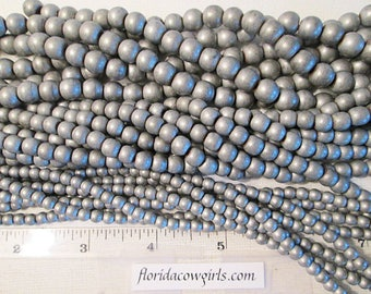 Hematite Beads, Smooth Round, Matte Silver, Non Magnetic, Choose 4mm, 6mm, 8mm, 15 Inch Strand, QTY 1 - gm579