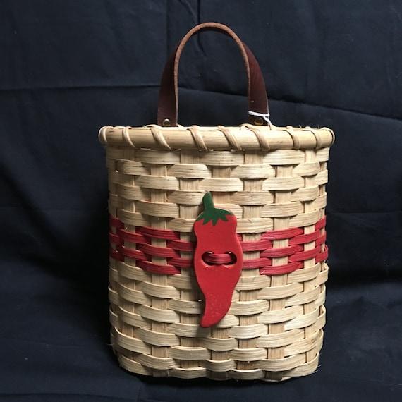 chili pepper mail basket wall basket card basket. Black Bedroom Furniture Sets. Home Design Ideas