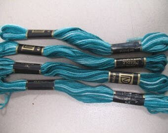 Teal Ombre Embroidery Floss