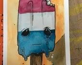 Chibi Popsicle original Watercolor