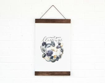 Count Your Blessings- Wall Hanging