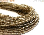 Love You 51% off Sale Smoky Quartz Gemstone Briolette AAA Chocolate Brown Micro Faceted Israeli Cut Rondelle 3.5mm 1/2 Strand 70 beads