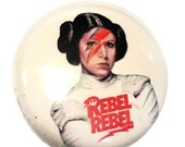 Rebel Rebel Princess Leia 1 inch Button