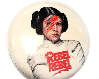 Rebel Rebel Princess Leia 1 inch Button